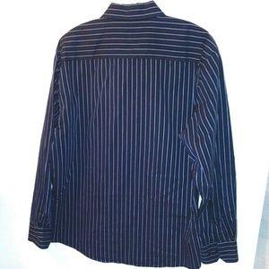 Eighty Eight Mens Dress Shirt long sleeve striped
